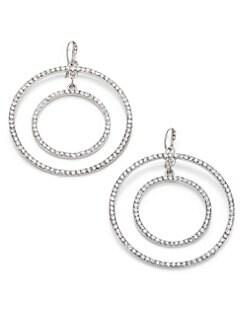 ABS by Allen Schwartz Jewelry - Double-Circle Sparkle Earrings