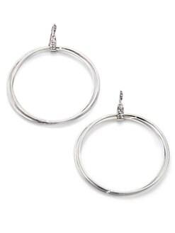 ABS by Allen Schwartz Jewelry - Double-Loop Sparkle Earrings/ 2