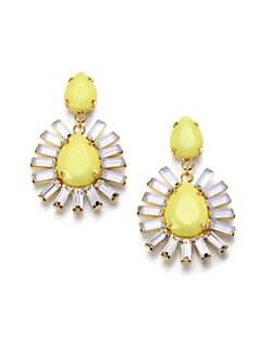 ABS by Allen Schwartz Jewelry - Baguette & Pear-Shaped Earrings
