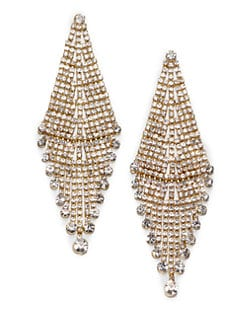 ABS by Allen Schwartz Jewelry - Glass Chandelier Earrings
