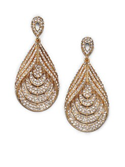 ABS by Allen Schwartz Jewelry - Glass Chandelier Teardrop Earrings