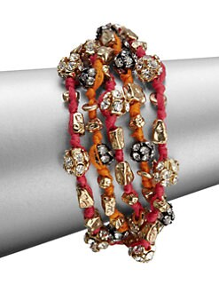 ABS by Allen Schwartz Jewelry - Glass Stone & Cotton Multi-Strand Bracelet