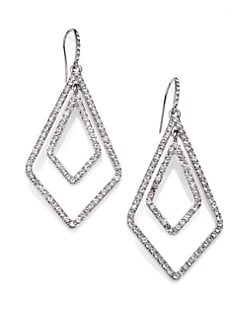 ABS by Allen Schwartz Jewelry - Double Diamond Earrings