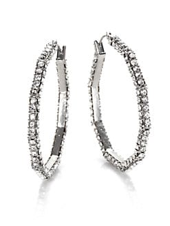 ABS by Allen Schwartz Jewelry - Sparkle Hoop Earrings/1.5