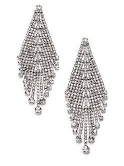 ABS by Allen Schwartz Jewelry - Draped Rhinestone Earrings