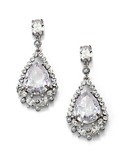 ABS by Allen Schwartz Jewelry - Double Sparkle Teardrop Earrings