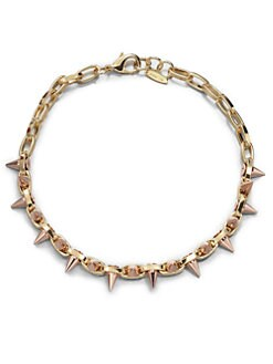 Joomi Lim - 16k Goldplated Chain & Spike Choker