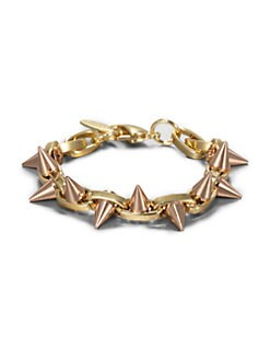 Joomi Lim - 16k Goldplated Chain & Spike Bracelet