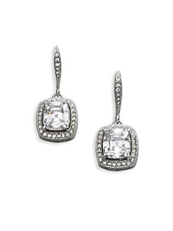 Adriana Orsini - Cushion-Cut Framed Earrings