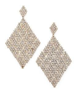 ABS by Allen Schwartz Jewelry - Faceted Mesh Drop Earrings
