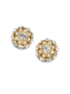 Kate Spade New York - Crystal Encrusted Stud Earrings/Goldtone