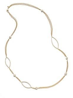 ABS by Allen Schwartz Jewelry - Stone Accented Station Necklace