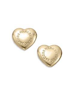 Marc by Marc Jacobs - House E Domed Heart Stud Earrings