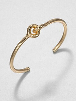 Giles & Brother - Skinny Archer Cuff Bracelet/10k Goldplated