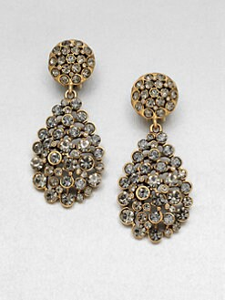 Oscar de la Renta - Pavé Stone Accented Drop Clip-On Earrings