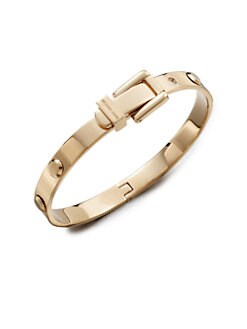 Michael Kors - Rivet Accented Buckle Bangle Bracelet/Rose Goldtone