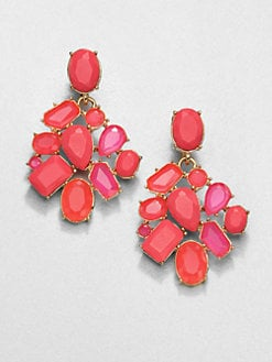 Kate Spade New York - Faceted Cluster Earrings/Pink