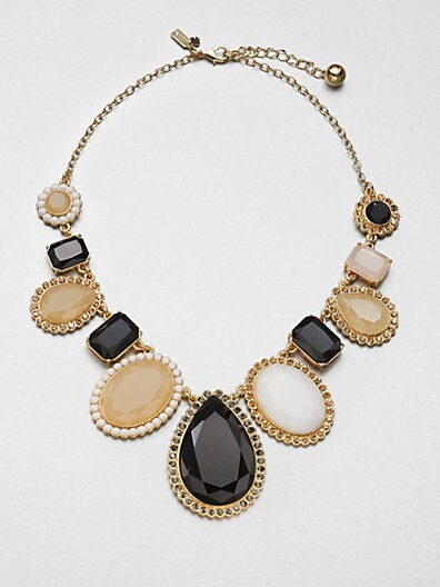Jewel-Framed Statement Necklace
