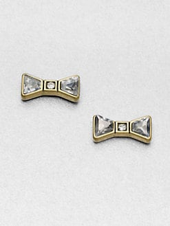 Marc by Marc Jacobs - Stone Accented Bow Stud Earrings