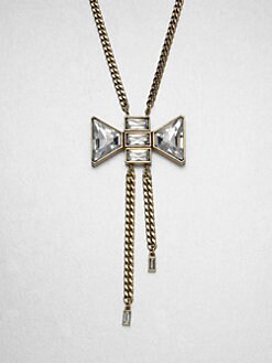 Marc by Marc Jacobs - Stone Accented Bow Lariat Necklace
