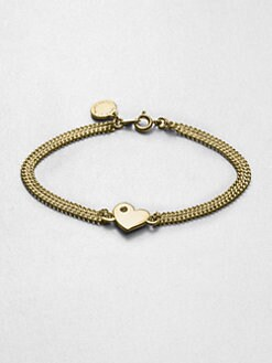 Marc by Marc Jacobs - Stone Accented Heart Chain Link Bracelet