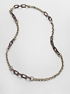 Marc by Marc Jacobs - Stone Accented Multi-Link Necklace