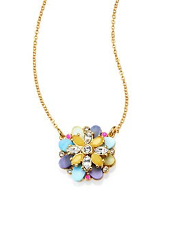 Kate Spade New York - Multicolor Flower Pendant Necklace