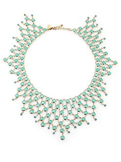 Kate Spade New York - Green Faceted Stone Bib Necklace