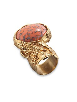 Saint Laurent - Arty Ovale Ring/Bright Goldtone