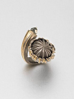 Saint Laurent - Pyrite Snail Ring
