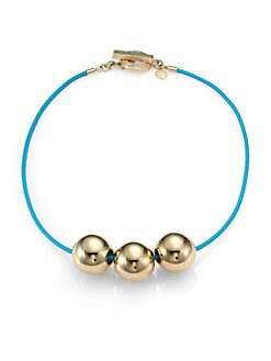 Marc by Marc Jacobs - Triple Ball Necklace/Goldtone