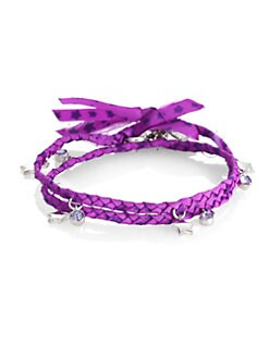 Marc by Marc Jacobs - Braided Double-Wrap Charm Bracelet