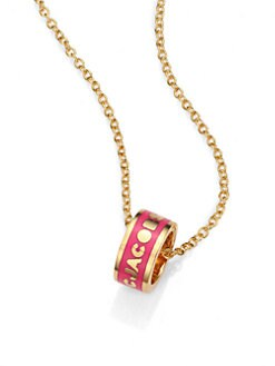 Marc by Marc Jacobs - Enamel Logo Ring Pendant Ring