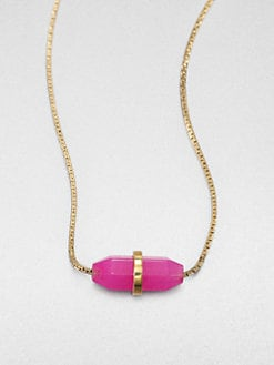 Michael Kors - Pink Mountain Jade Pendant Necklace