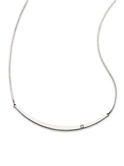 Michael Kors - Silvertone Bar Necklace