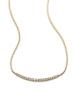 Michael Kors - Pave Bar Necklace/Goldtone