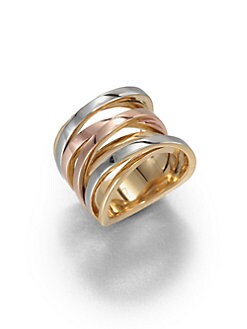 Michael Kors - Tri-Tone Twisted Ring