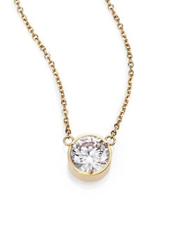 Michael Kors - Faceted Pendant Necklace/Goldtone