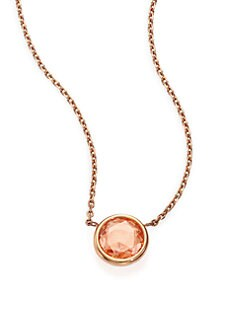 Michael Kors - Faceted Pendant Necklace/Rose Goldtone