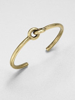Giles & Brother - Skinny Archer Cuff Bracelet/Goldtone