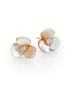 Disco Pansy Mother-of-Pearl Mini Stud Earrings
