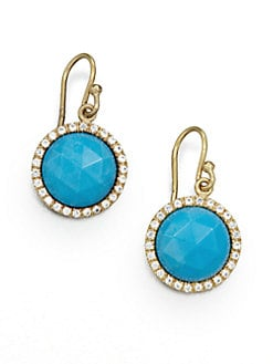 MIJA - Turquoise and White Sapphire Earrings