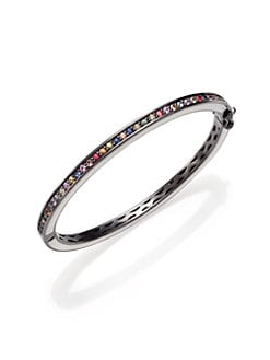 M.C.L by Matthew Campbell Laurenza - Multicolored Sapphire & Sterling Silver Bracelet