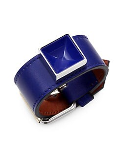 Proenza Schouler - PS11 Leather & Lacquer Large Bracelet