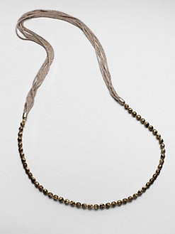 FLorian - Beaded Mesh Chain Necklace