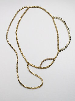 FLorian - Metallic Layered Bead Necklace