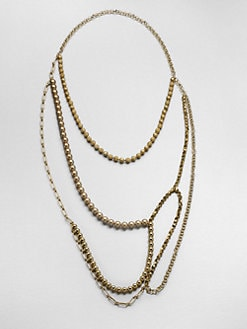 FLorian - Layered Bead & Chain Necklace