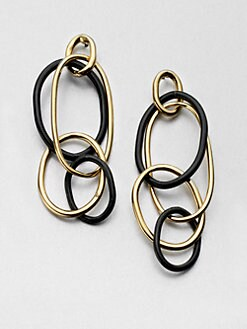 Kara by Kara Ross - Interlocking Oval Link Earrings