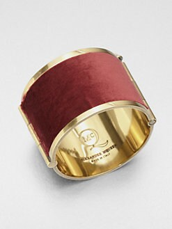 McQ Alexander McQueen - Velvet Cuff Bracelet