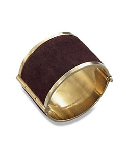 McQ Alexander McQueen - Pony Hair Wide Cuff Bracelet